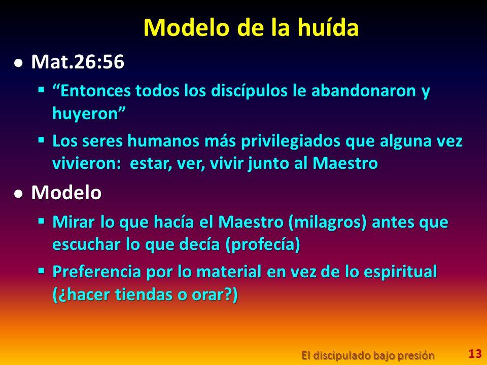Modelo de la huída Mat.26:56 Modelo