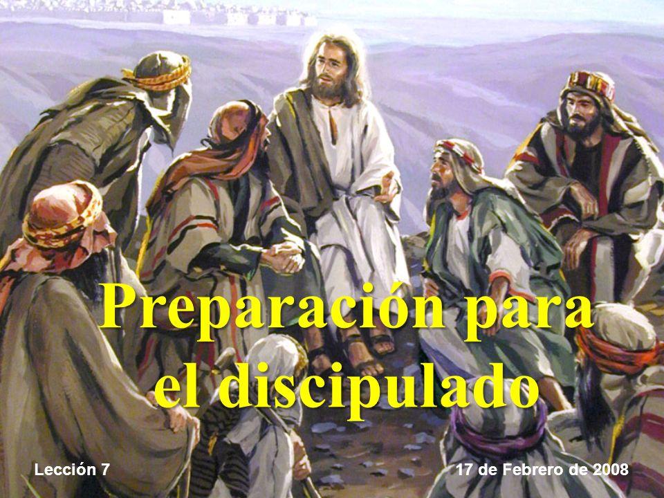 Preparación para el discipulado