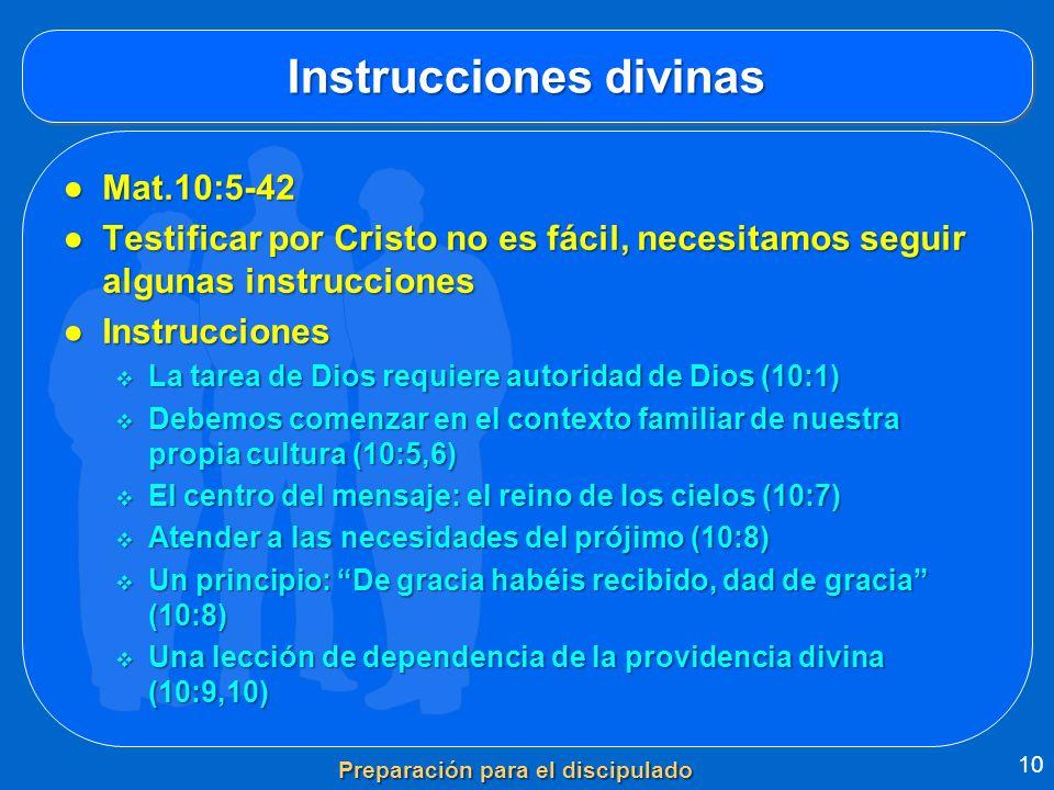 Instrucciones divinas