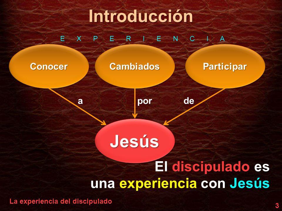 Introducción Jesús El discipulado es una experiencia con Jesús Conocer