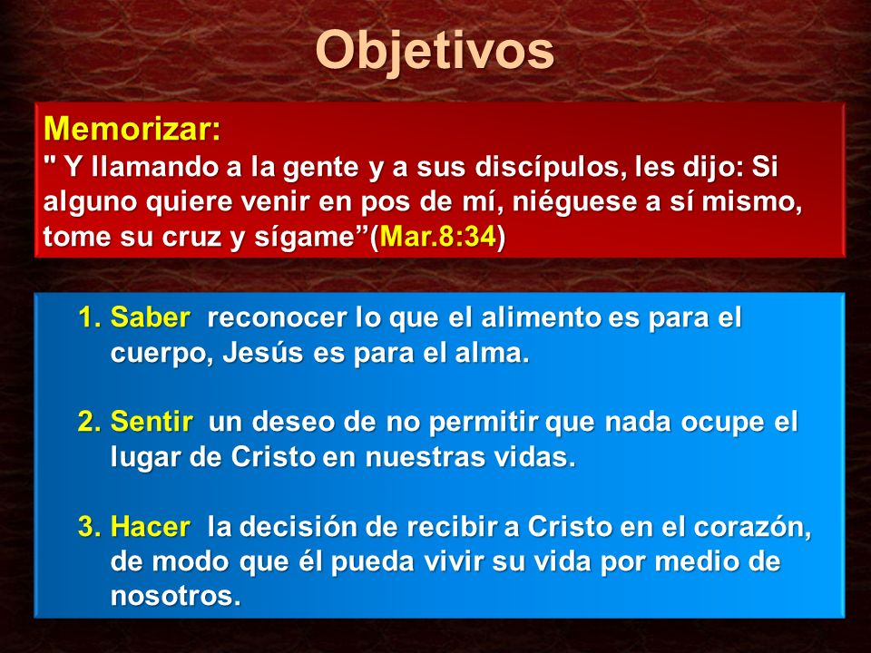 Objetivos Memorizar: