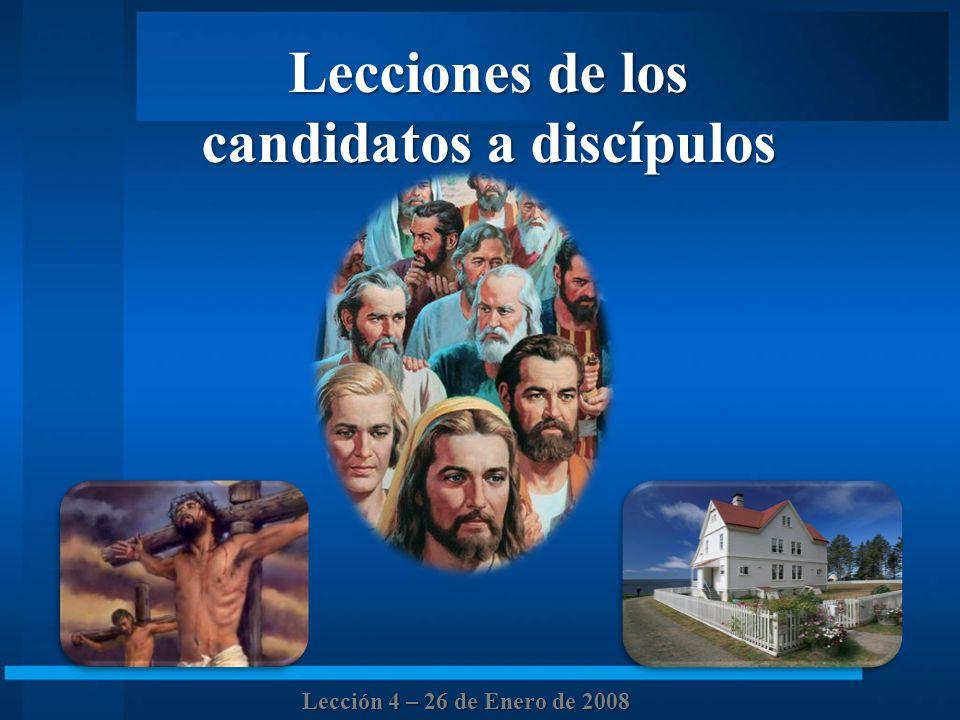 candidatos a discípulos