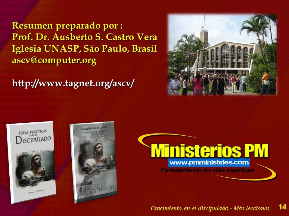 Resumen preparado por : Prof. Dr. Ausberto S. Castro Vera