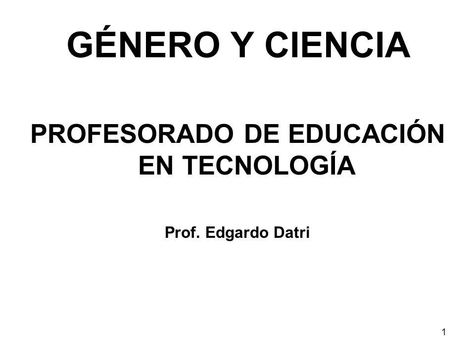 PROFESORADO DE EDUCACIÓN EN TECNOLOGÍA