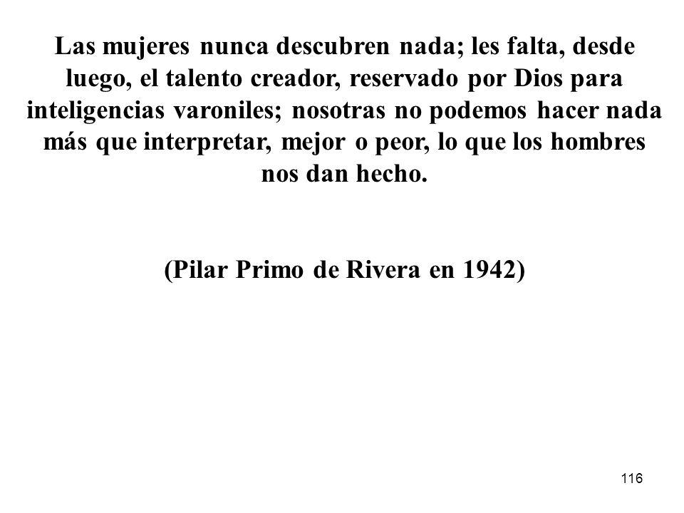 (Pilar Primo de Rivera en 1942)