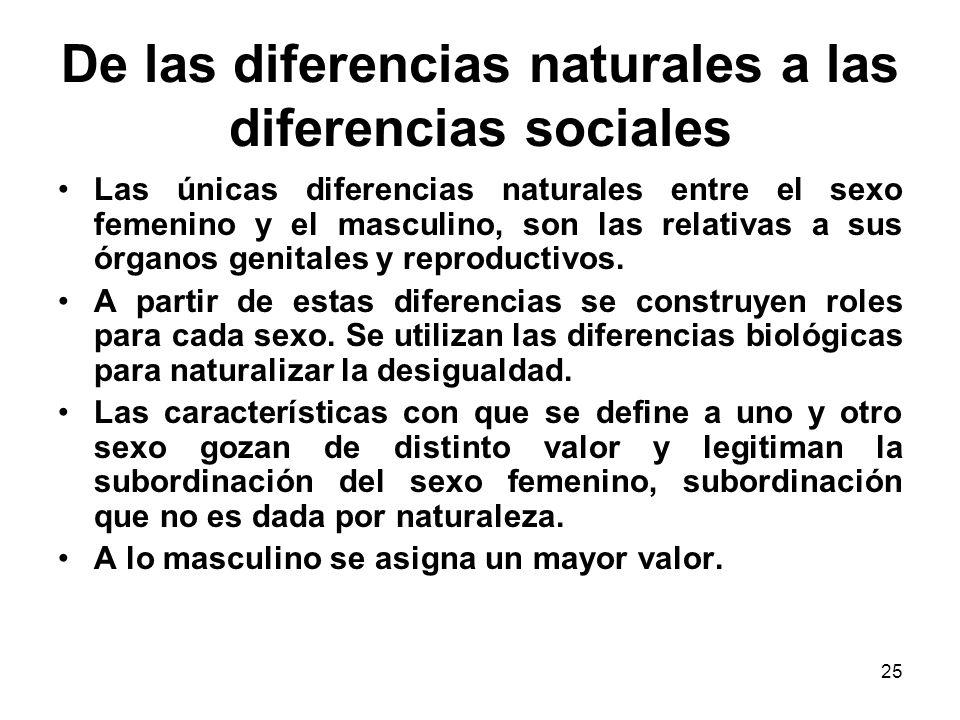 De las diferencias naturales a las diferencias sociales