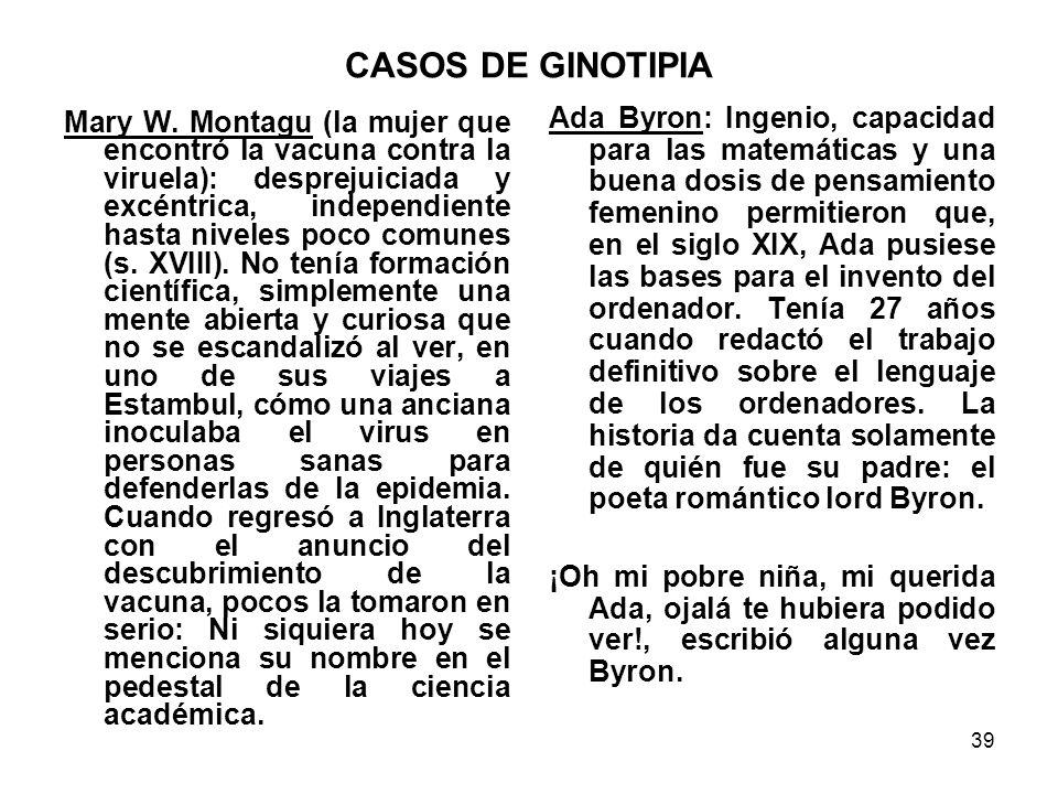 CASOS DE GINOTIPIA