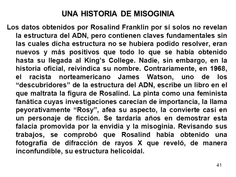 UNA HISTORIA DE MISOGINIA