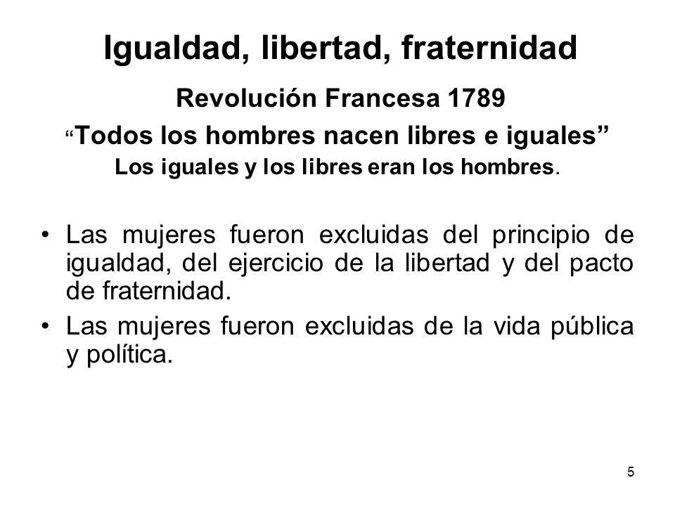 Igualdad, libertad, fraternidad Revolución Francesa 1789