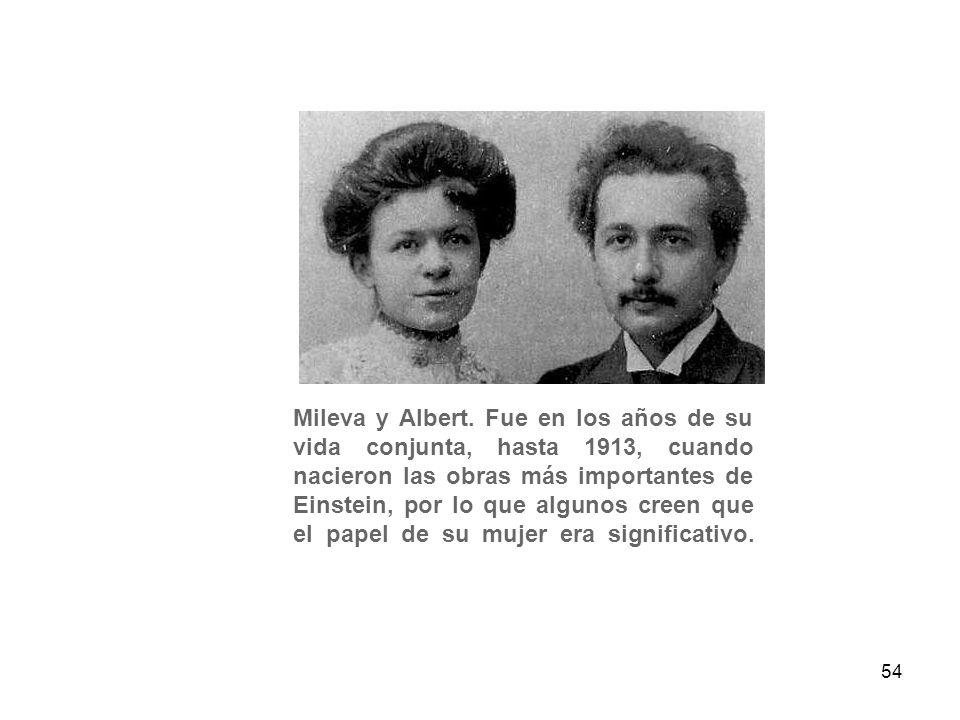 Mileva y Albert.