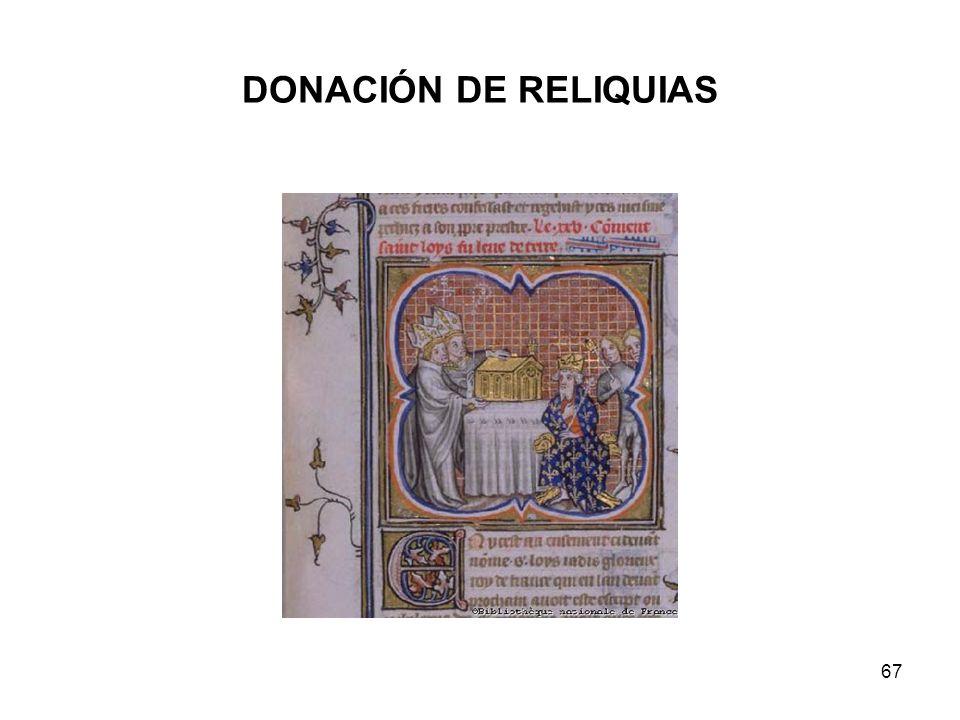 DONACIÓN DE RELIQUIAS