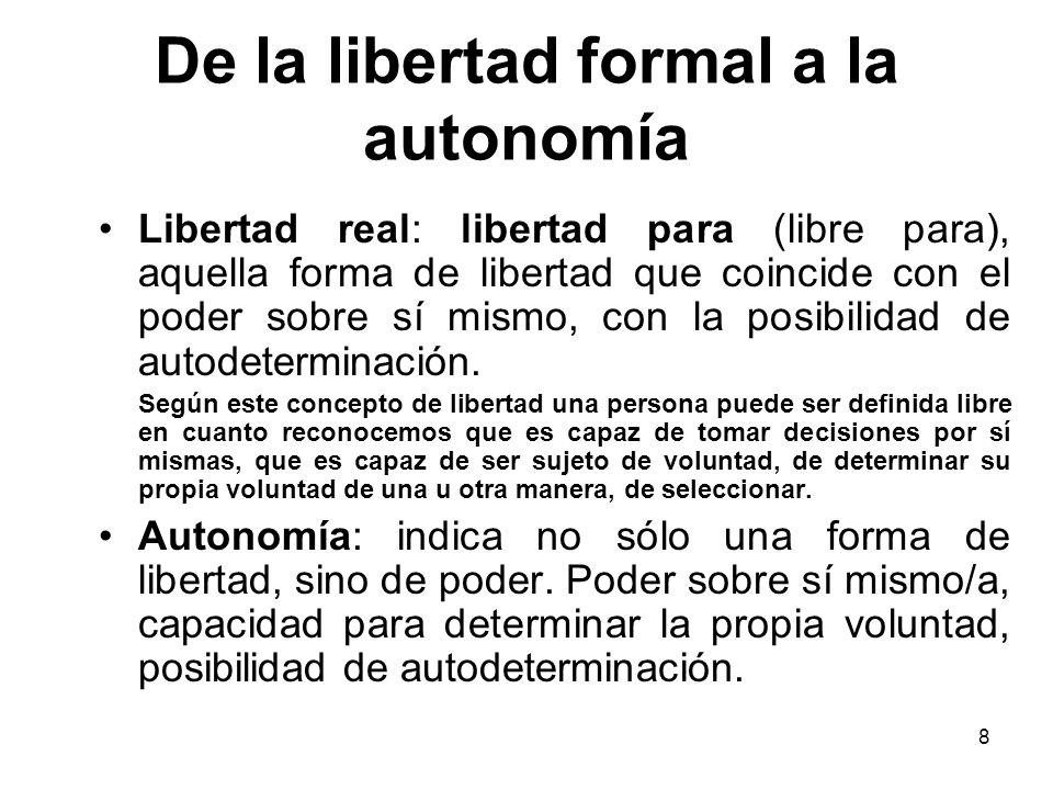 De la libertad formal a la autonomía