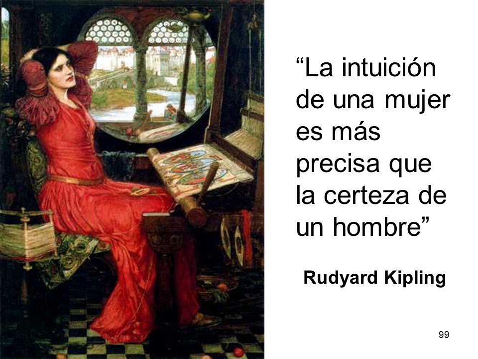 La intuición de una mujer es más precisa que la certeza de un hombre