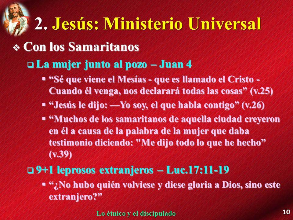 2. Jesús: Ministerio Universal