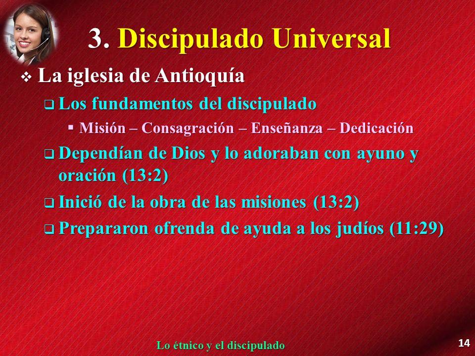 3. Discipulado Universal