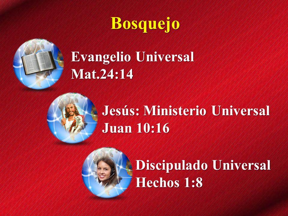 Bosquejo Evangelio Universal Mat.24:14 Jesús: Ministerio Universal