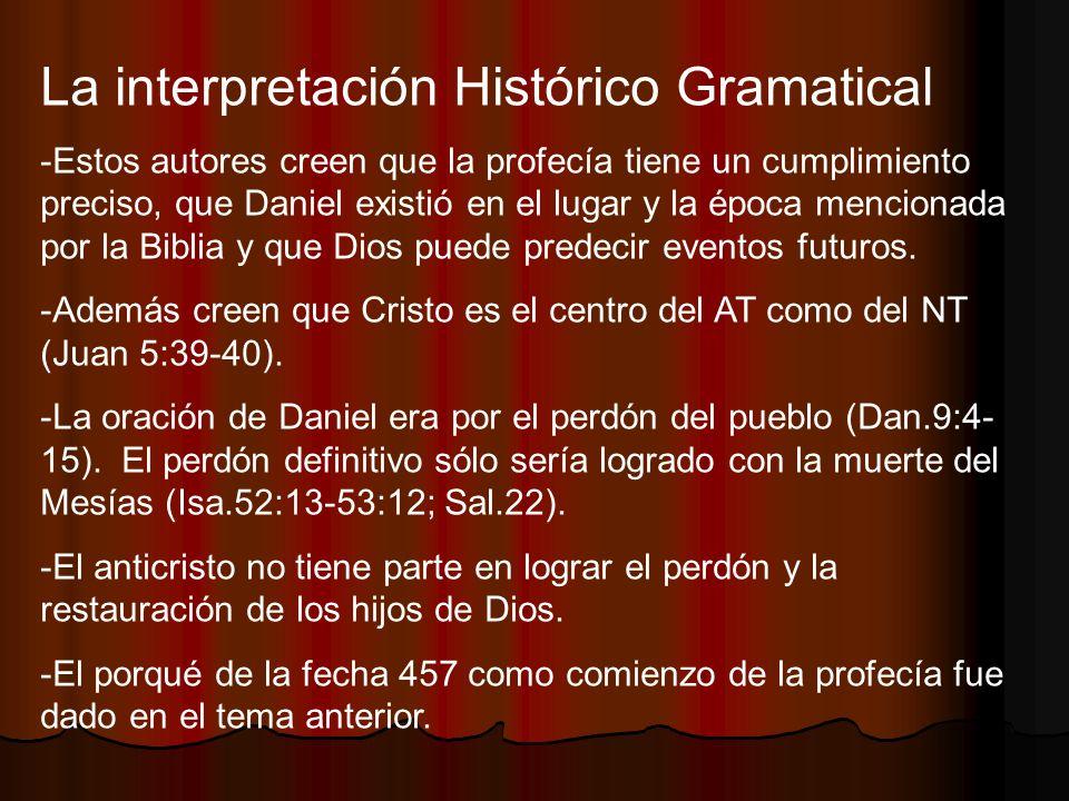 La interpretación Histórico Gramatical