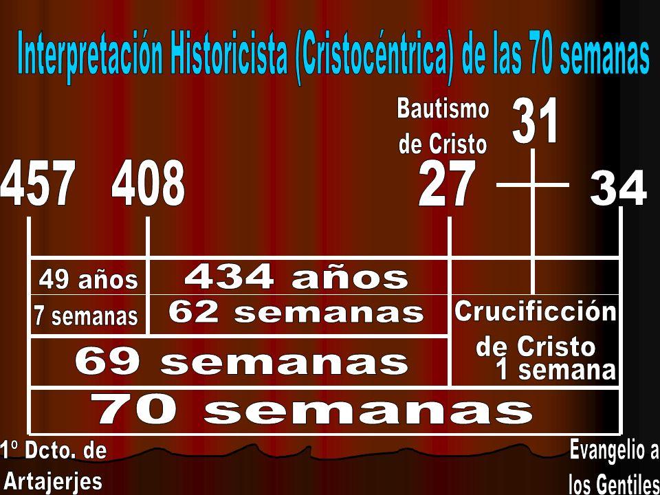 Interpretación Historicista (Cristocéntrica) de las 70 semanas