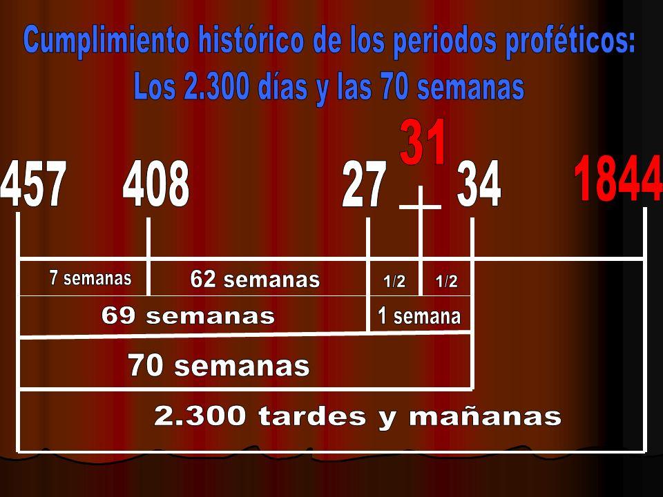 Cumplimiento histórico de los periodos proféticos: