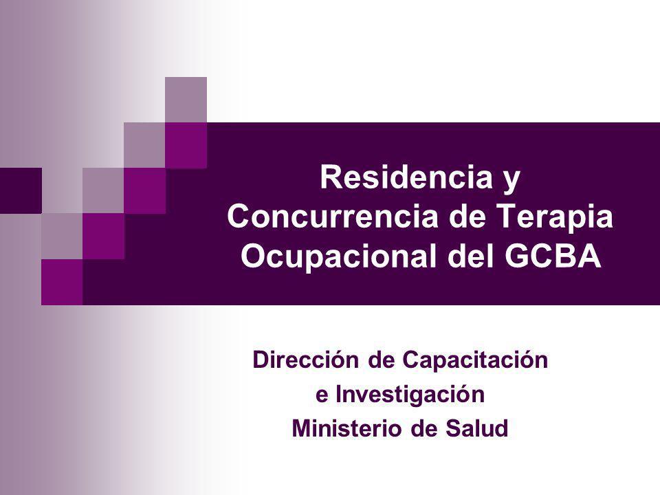 Residencia y Concurrencia de Terapia Ocupacional del GCBA