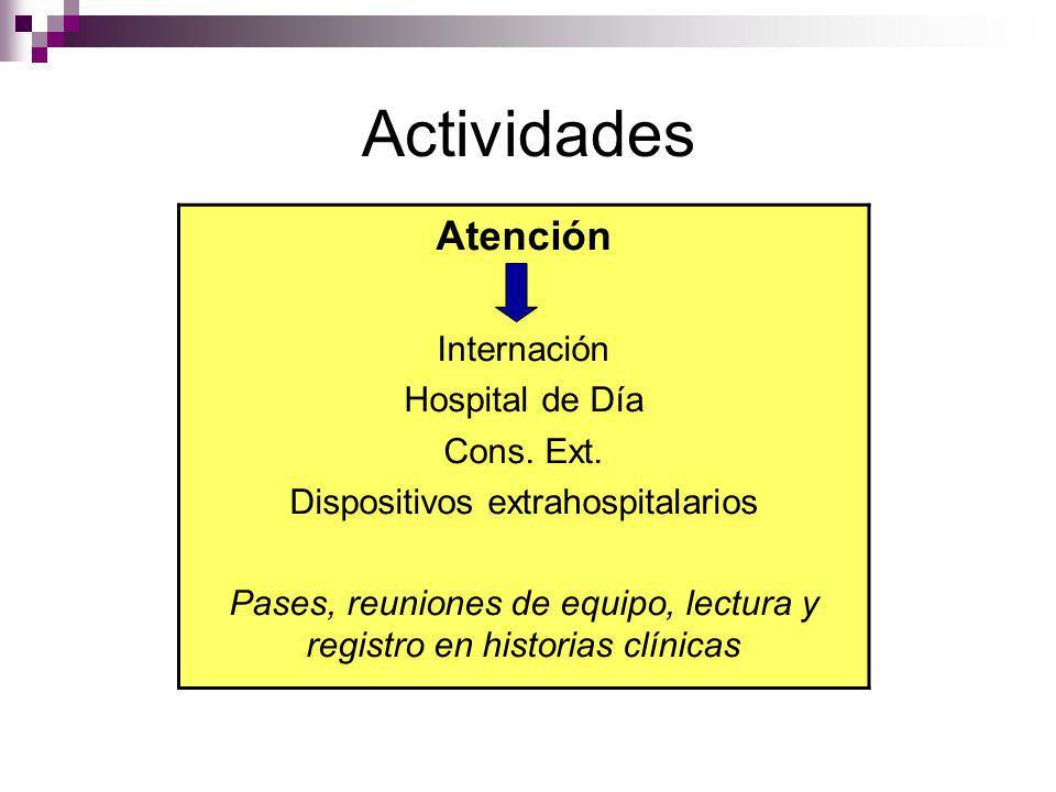 Actividades Atención Internación Hospital de Día Cons. Ext.