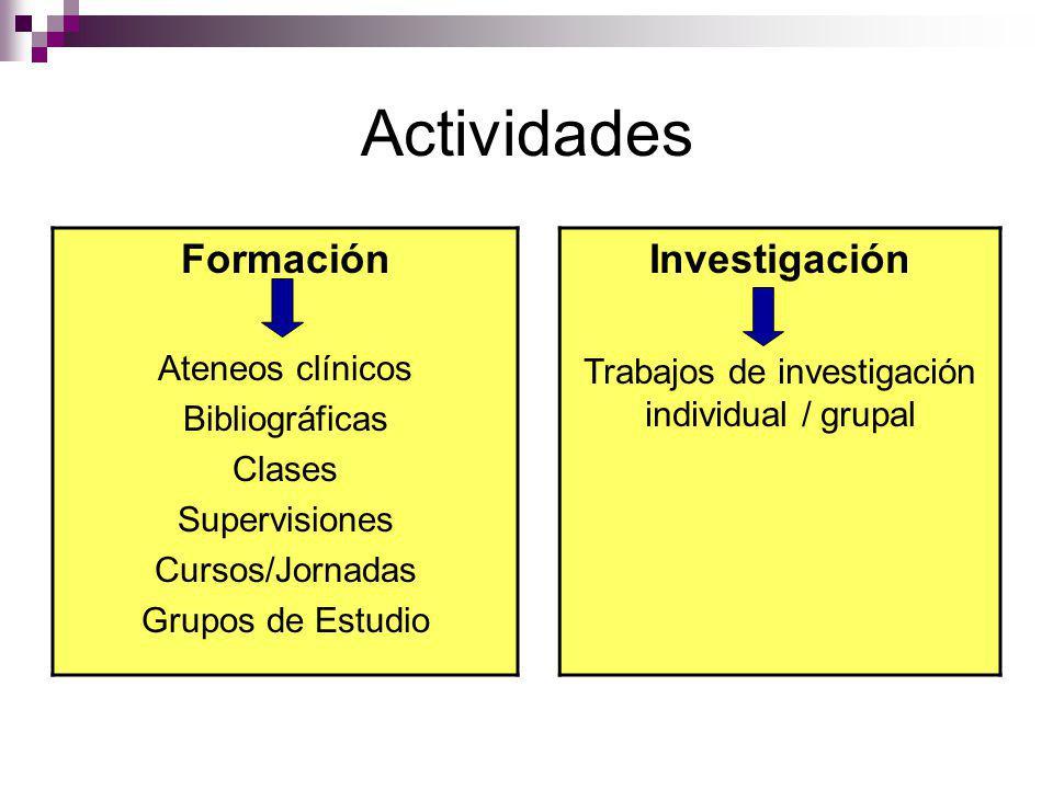 Trabajos de investigación individual / grupal