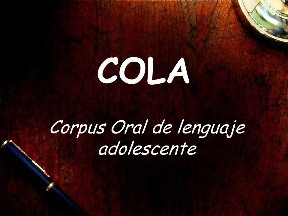 Corpus Oral de lenguaje adolescente