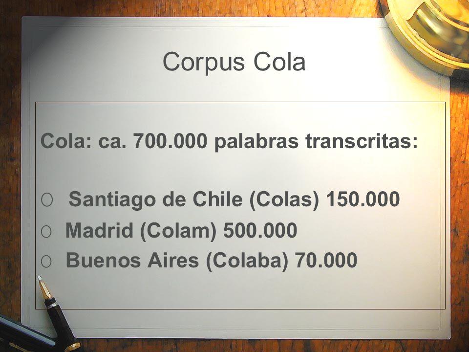 Corpus Cola O Santiago de Chile (Colas) 150.000