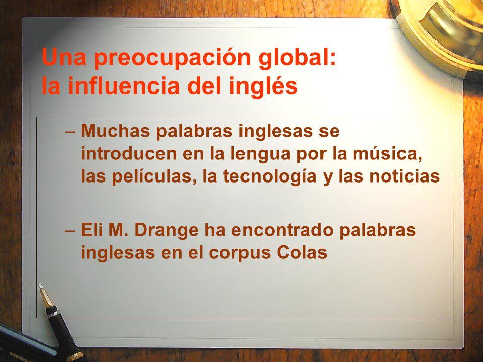 Una preocupación global: la influencia del inglés