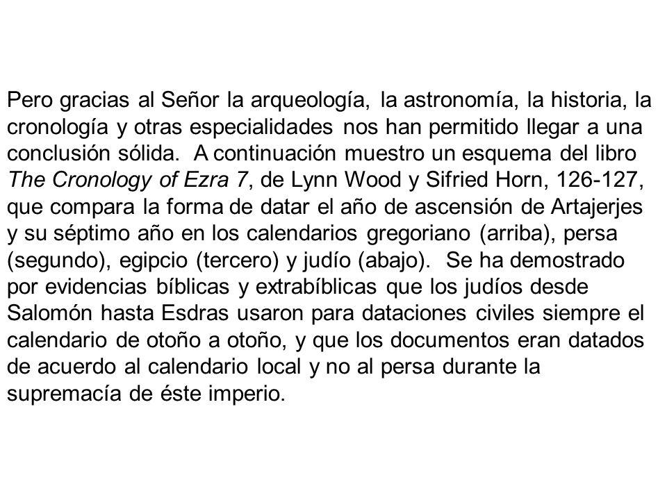 Pero gracias al Señor la arqueología, la astronomía, la historia, la cronología y otras especialidades nos han permitido llegar a una conclusión sólida.