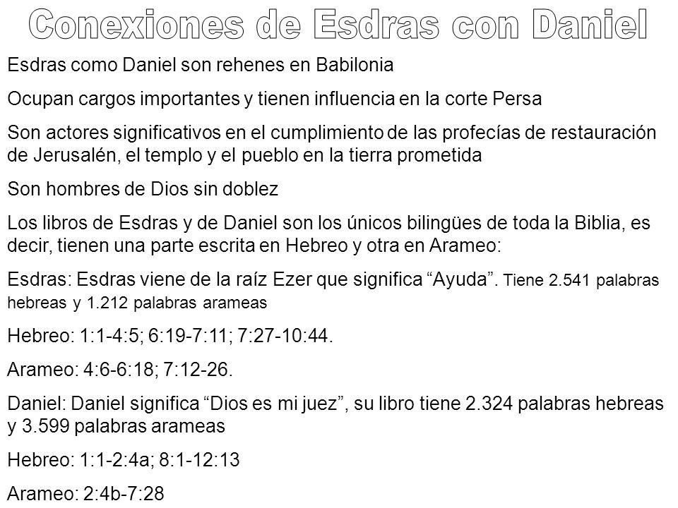 Conexiones de Esdras con Daniel