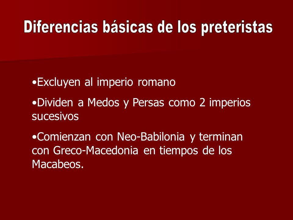 Diferencias básicas de los preteristas