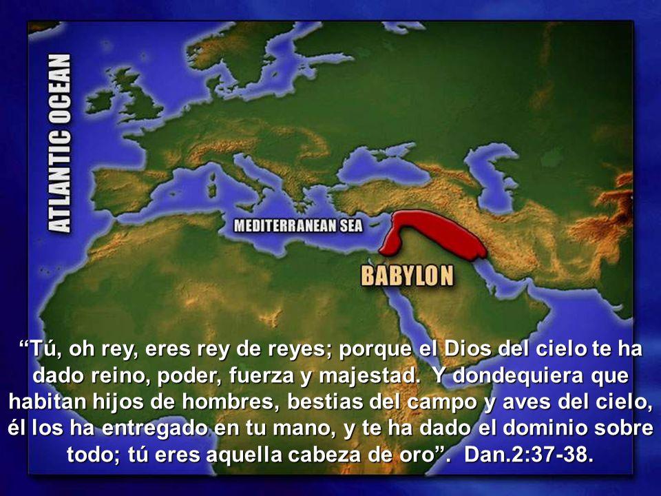 Tú, oh rey, eres rey de reyes; porque el Dios del cielo te ha dado reino, poder, fuerza y majestad.
