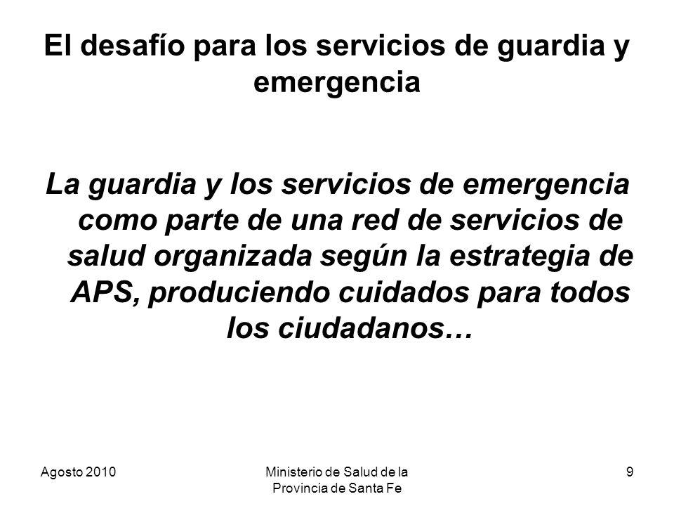 El desafío para los servicios de guardia y emergencia