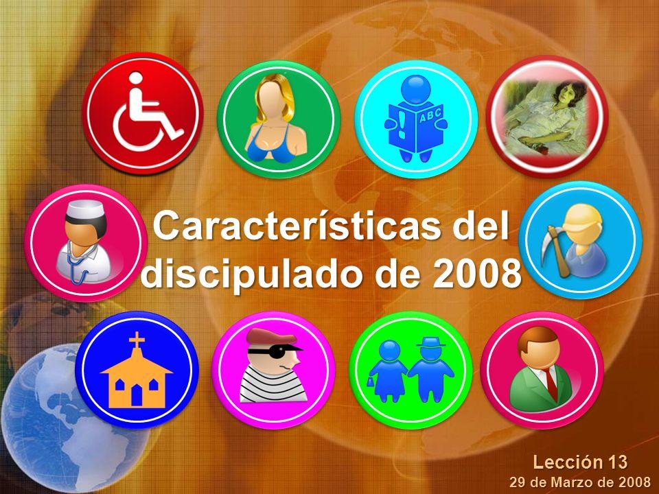 Características del discipulado de 2008