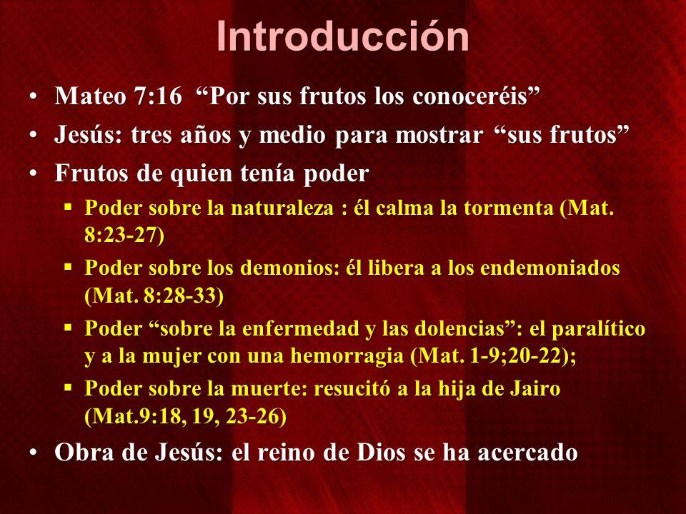 Introducción Mateo 7:16 Por sus frutos los conoceréis