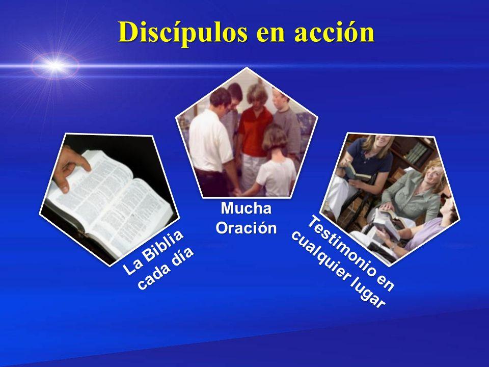 Discípulos en acción Mucha Oración Testimonio en La Biblia