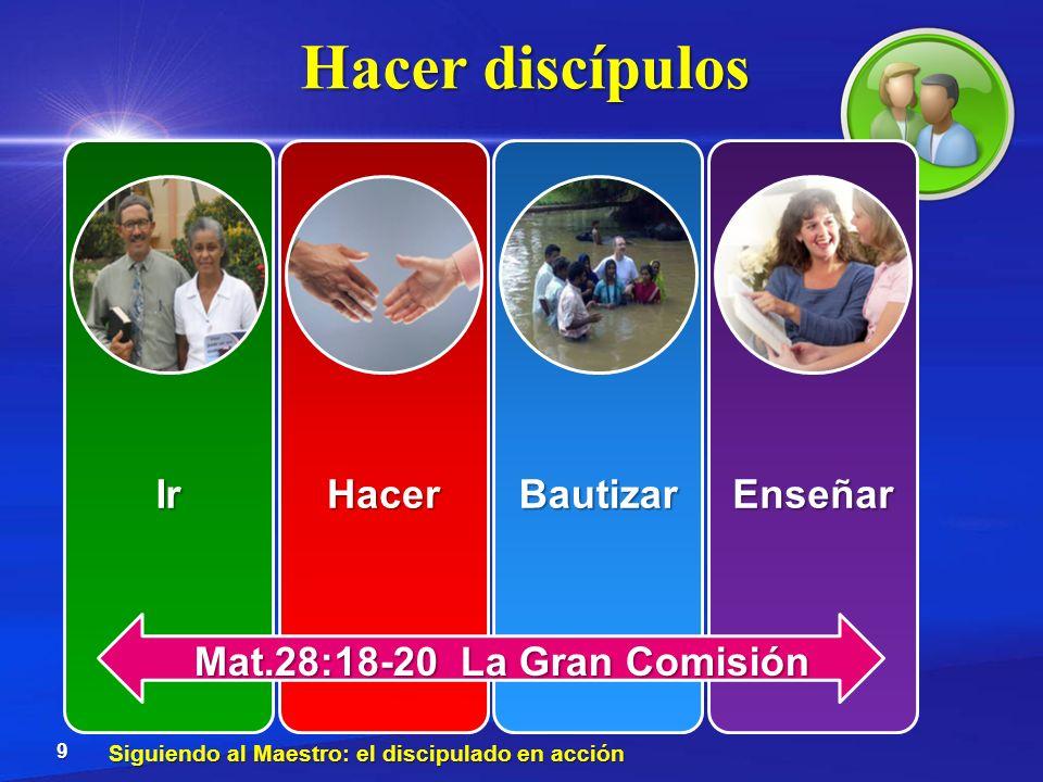Hacer discípulos Enseñar Mat.28:18-20 La Gran Comisión
