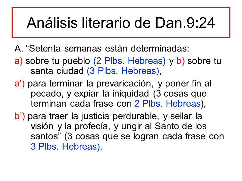Análisis literario de Dan.9:24