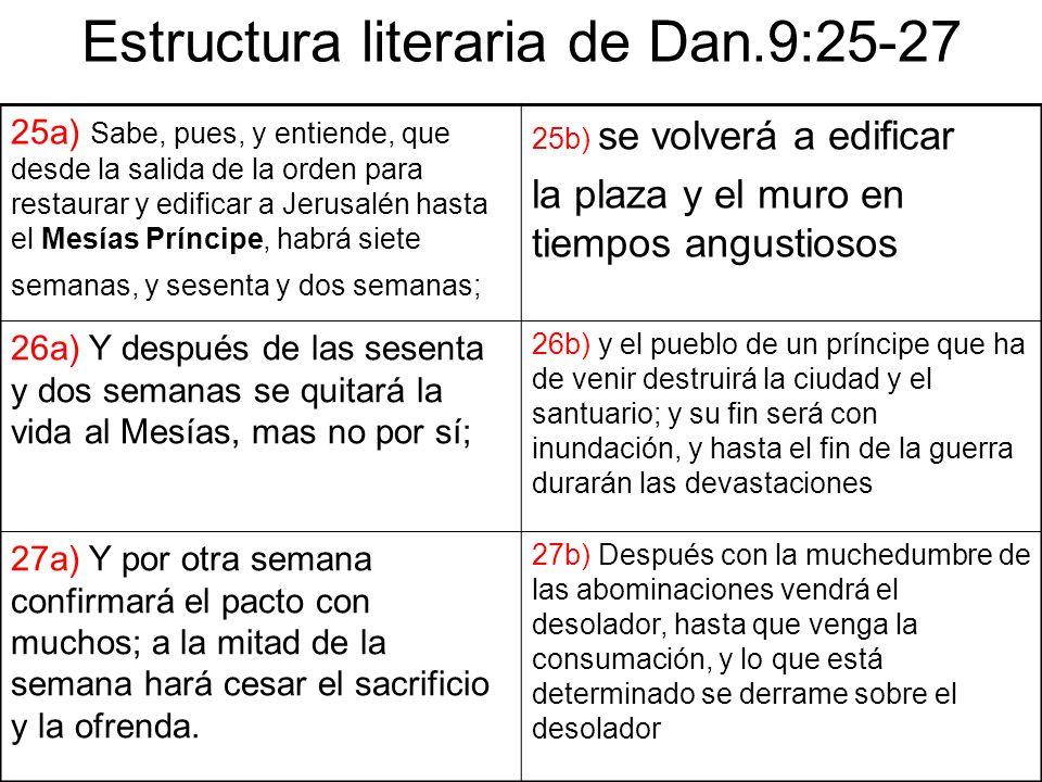 Estructura literaria de Dan.9:25-27