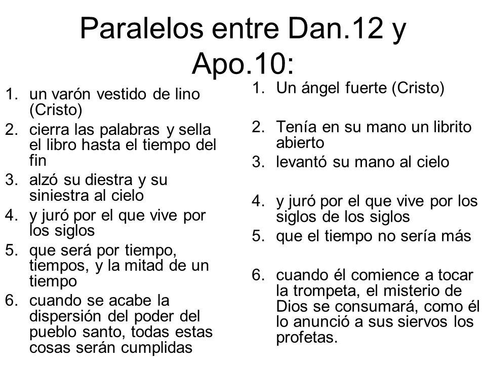 Paralelos entre Dan.12 y Apo.10: