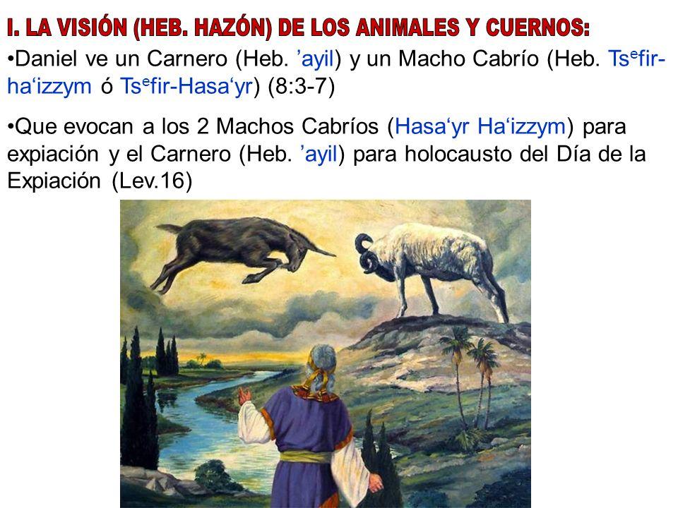 I. LA VISIÓN (HEB. HAZÓN) DE LOS ANIMALES Y CUERNOS: