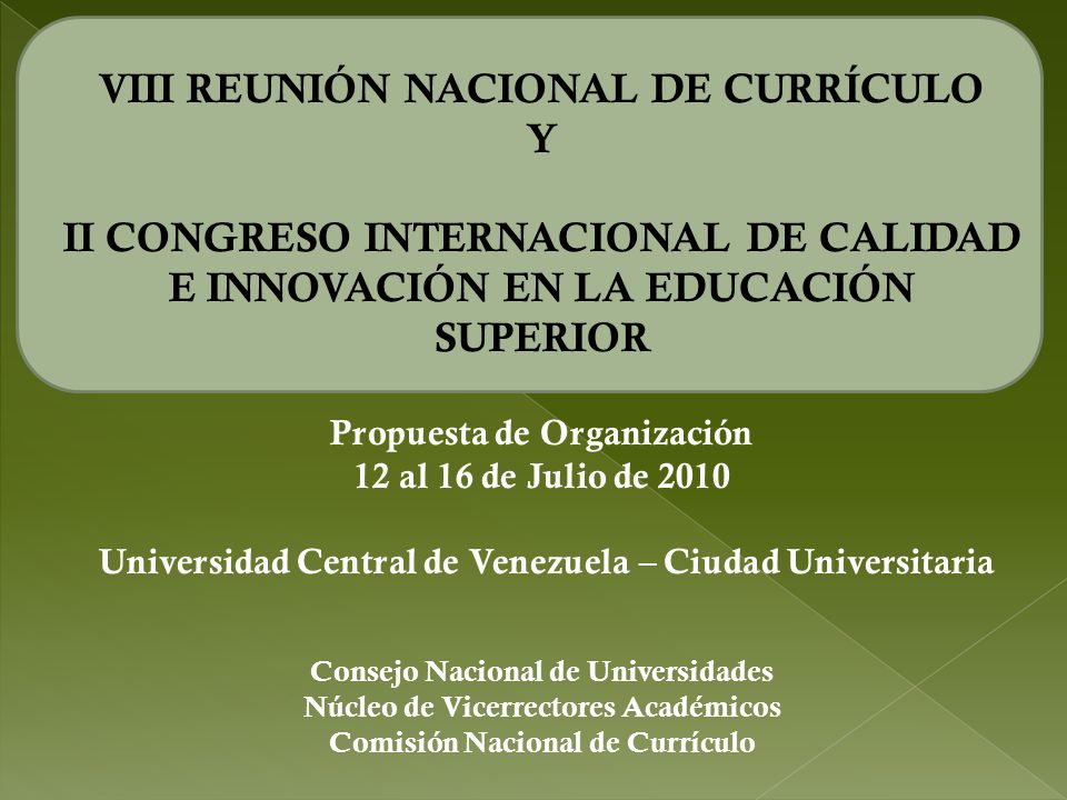 VIII REUNIÓN NACIONAL DE CURRÍCULO Y