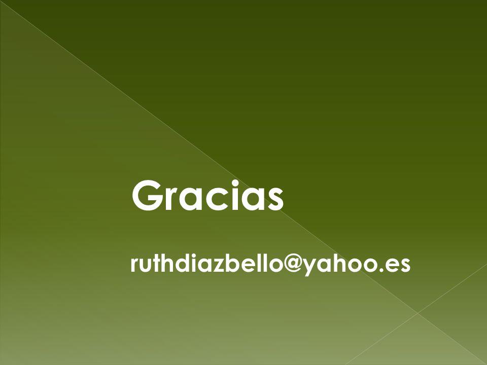 Gracias ruthdiazbello@yahoo.es