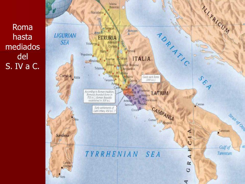 Roma hasta mediados del S. IV a C.