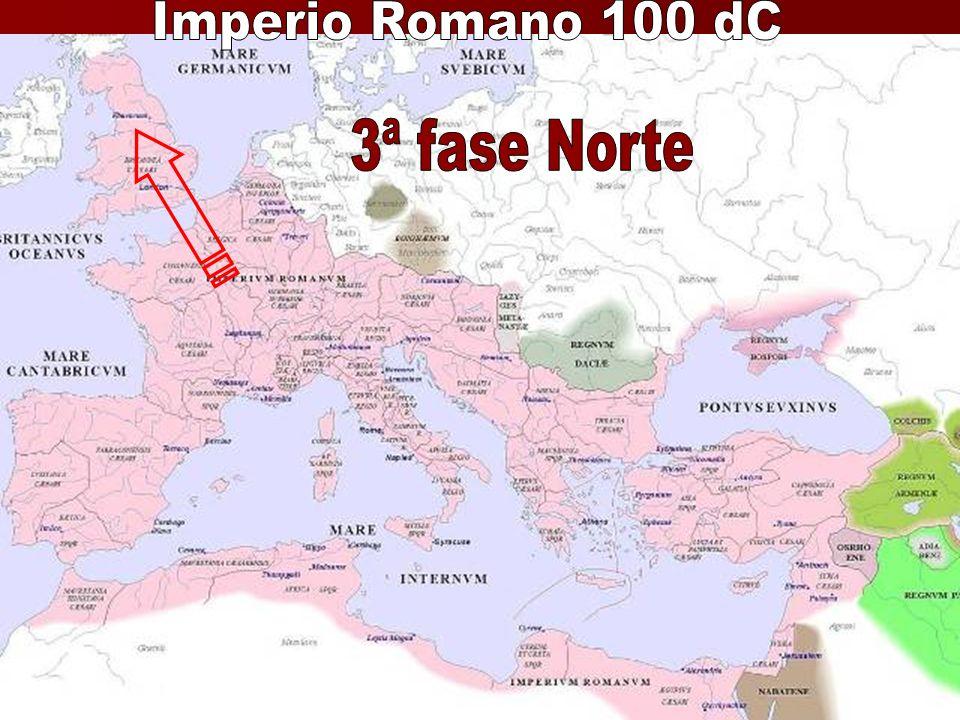 Imperio Romano 100 dC 3ª fase Norte