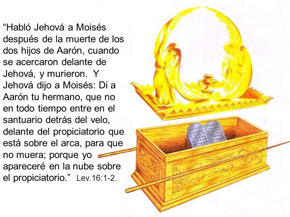 Habló Jehová a Moisés después de la muerte de los dos hijos de Aarón, cuando se acercaron delante de Jehová, y murieron.