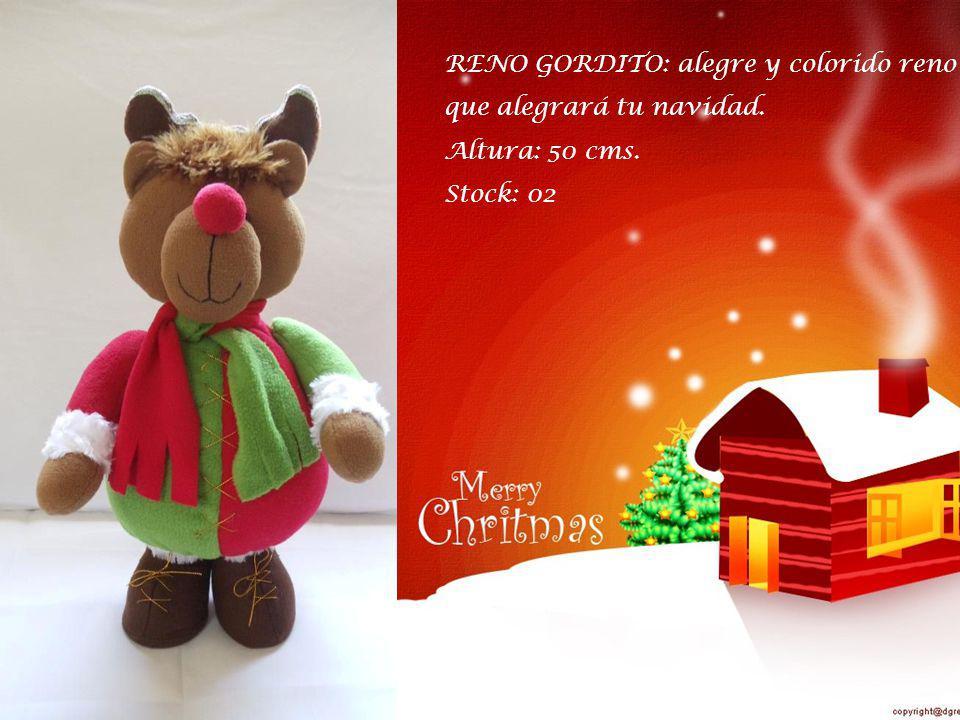 RENO GORDITO: alegre y colorido reno que alegrará tu navidad