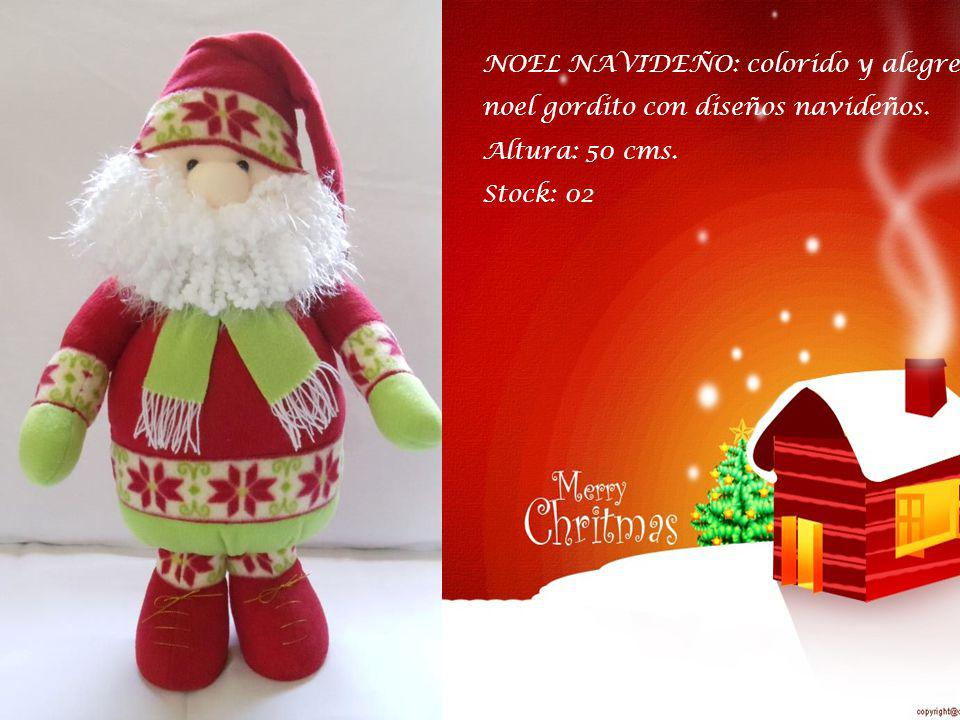 NOEL NAVIDEÑO: colorido y alegre noel gordito con diseños navideños