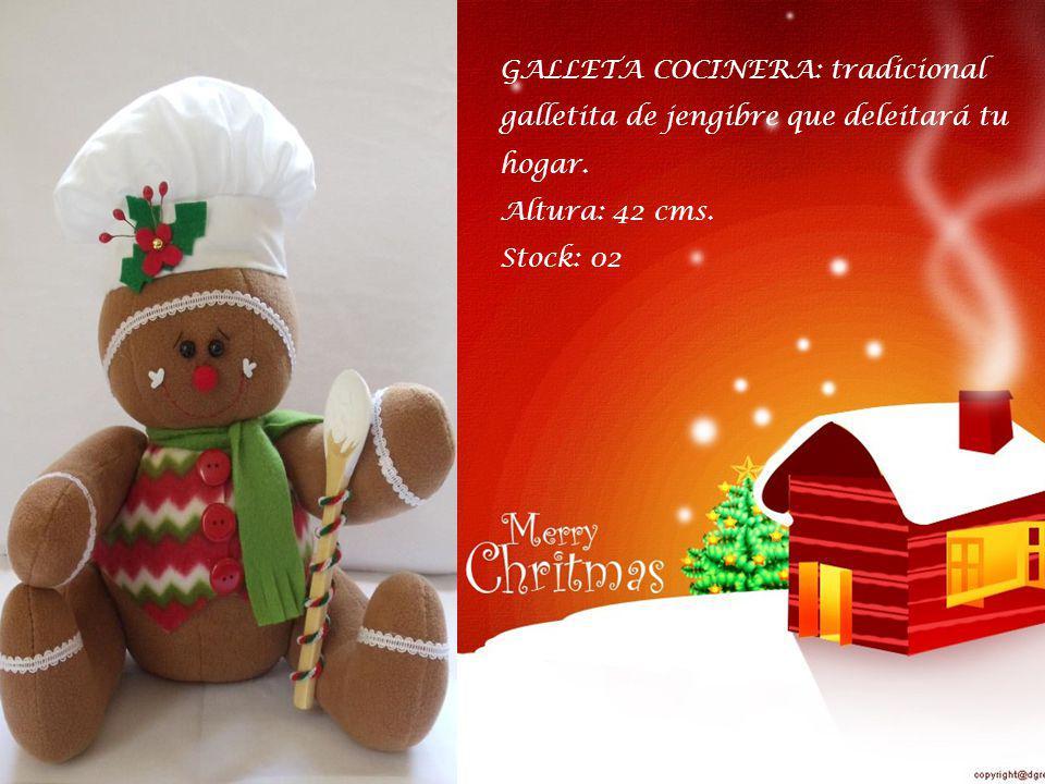 GALLETA COCINERA: tradicional galletita de jengibre que deleitará tu hogar.